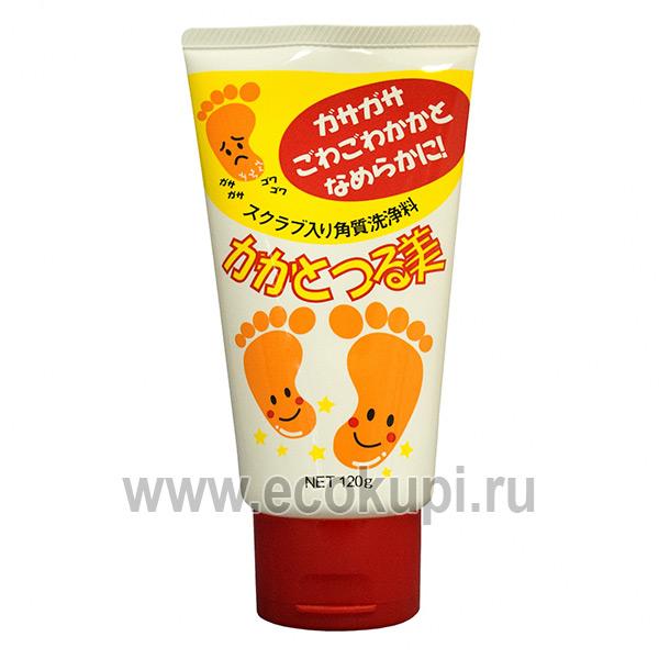 купить недорого Японский моющий крем-скраб для ступней и пяток COSMETEX ROLAND Loshi Care CreamS, скраб для ног в интернет магазине интернет магазин Москва