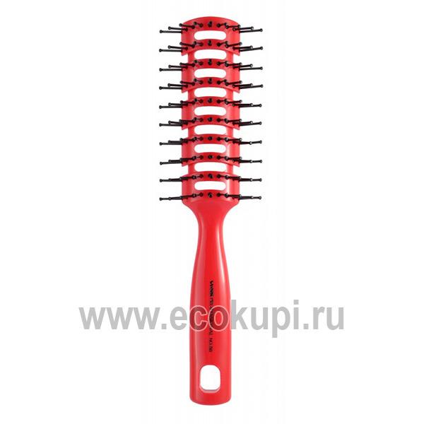 японская профессиональная расческа для укладки волос с антибактериальным эффектом Vess Skelton Brush купить дезодорирующий шампунь из Японии