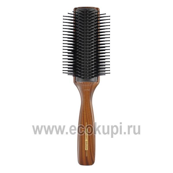 Японская профессиональная массажная щетка с антибактериальным и антистатическим эффектом Vess Blow Brush купить лечебную косметику для волос