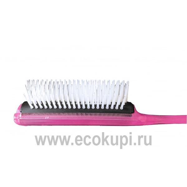 Японская профессиональная щетка для укладки волос розовая Vess Blow Brush С-150 купить глубокоувлажняющую косметику для волос самовывоз Россия