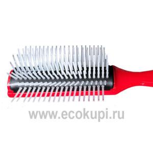 Японская профессиональная щетка для укладки волос красная Vess Blow Brush С-130 купить увлажняющее средство для волос и кожи головы из Японии