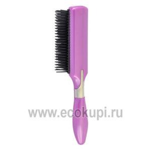 Японская щетка массажная с антистатическим эффектом с минералами горных пород Vess Antistatic Brush купить дешево японскую косметику для волос