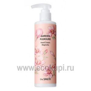 Крем для рук The Saem Garden Pleasure Hand Cream Magnolia купить увлажняющий крем для сухой кожи подробное описание отзывы распродажи