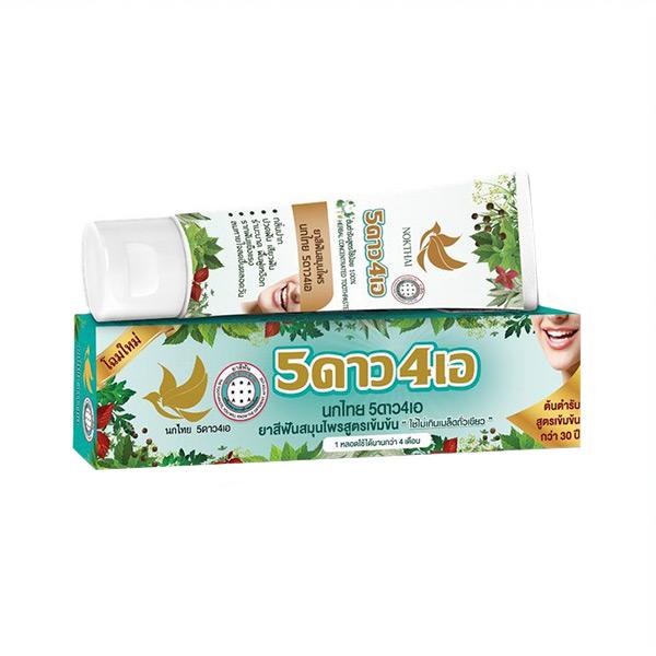 Концентрированная травяная отбеливающая зубная паста 5 Star 4A Nokthai, купить товары из Тайланда Южной Кореи Японии оптом и в розницу, фиксированные цены