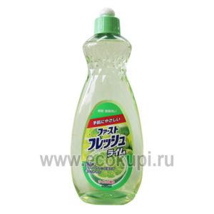 Жидкость для мытья посуды с ароматом лайма DAIICHI, товары из Японии в интернет магазине Экокупи, купить экономичный гель для посуды, подробное описание