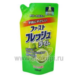 Жидкость для мытья посуды с ароматом лайма DAIICHI, японское антибактериальное средство для мытья посудыв холодной воде купить, доставки заказа курьером