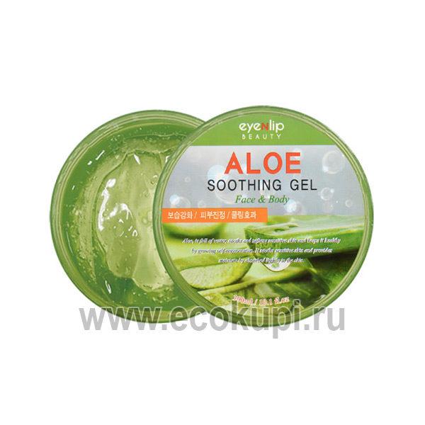 Корейский гель для тела с экстрактом Алое Eyenlip Aloe Soothing Gel Face & Body, купить средства для массажа Японии Кореи, интернет магазин Ecokupi Экокупи