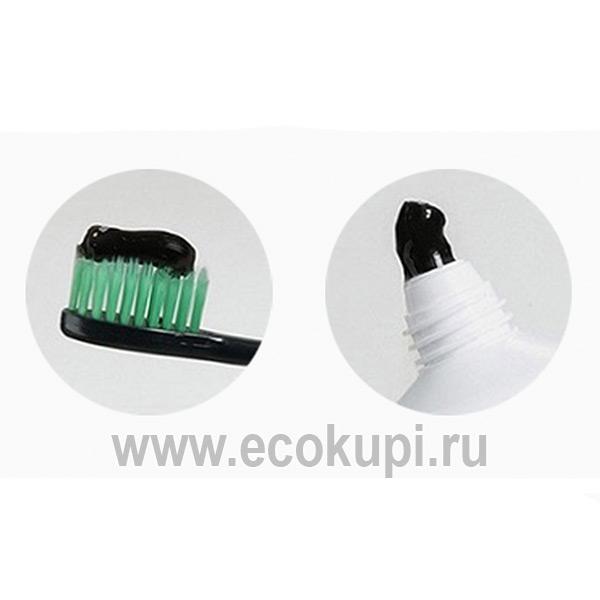 Корейская зубная паста комплексного действия с частицами серебра, древесным углем и растительными экстрактами Medif, зубная щетка купить в Москве недорого