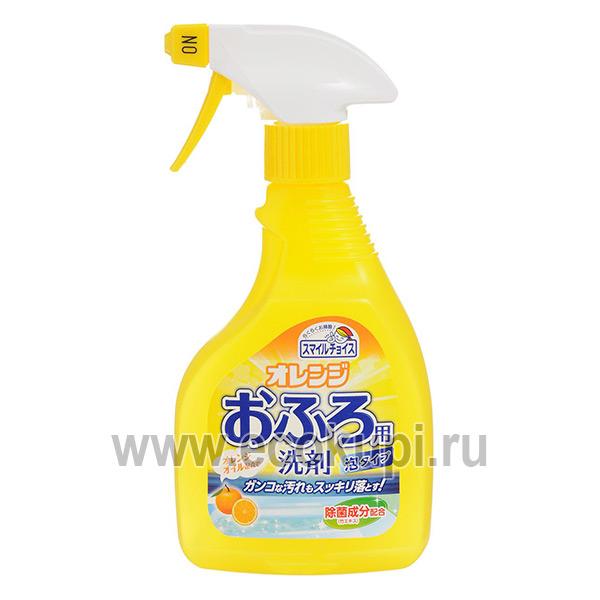 Средство для чистки ванн с эффектом распыления с ароматом апельсина MITSUEI, недорого купить моющие средства для ванной, кухни, комнаты в интернет магазине