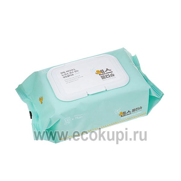 Корейские влажные салфетки для лица и тела Secret Day Sense, недорого купить антибактериальные увлажняющие салфетки интернет магазин Экокупи доставка Москва