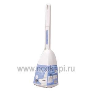 Японская акриловая губка для туалета с ручкой в боксе OH:E Acrylic Toilet Сase Brush, интернет магазин хозяйственных товаров для дома Кореи Японии Ecokupi
