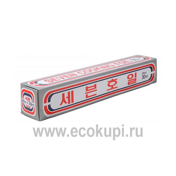 Фольга алюминиевая Myungjin Foil, купитьхозяйственную фольгу для готовки интернет магазин Экокупи товаров из Кореи с доставкой и самовывозом по России