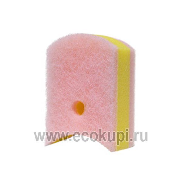 Японская губка для ванной и кухни с антибактериальной пропиткой трехслойная мягкий верхний слой Kikulon Soft Bath Sponge Scouter Non Scratch