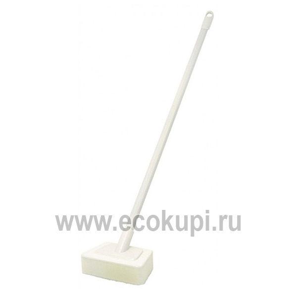 Японская губка для ванной прямоугольной формы с ручкой OH:E Bath Sponge, интернет магазин хозяйственных товаров для дома Экокупи, доставка заказов по России