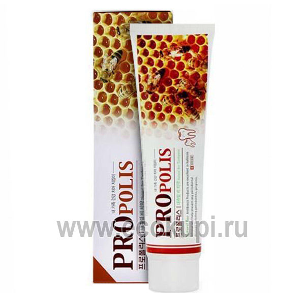 Корейская зубная паста с прополисом маточное молочко для чувствительных зубов Hanil Natural Bee Propolis Toothpaste, купить зубная паста для слабых десен