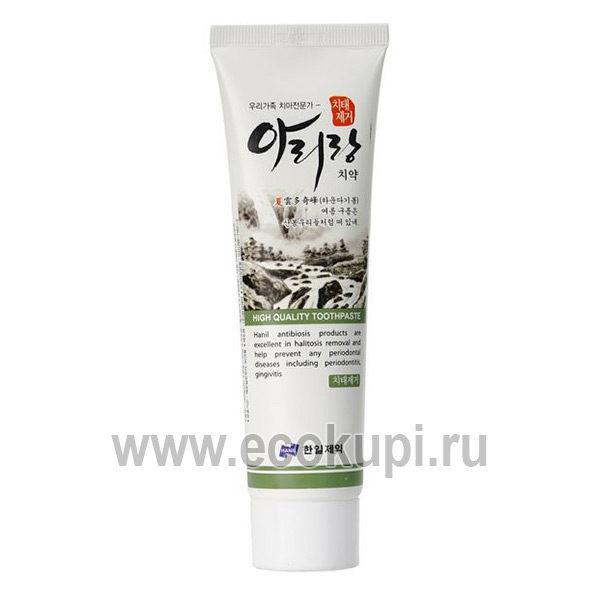 Корейская зубная паста от зубного камня и налета Hanil Arirang Anti Dental Plaque Toothpaste, купить средства гигиены для всей семьи, доставка по России
