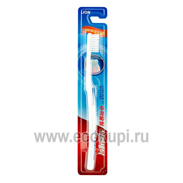 Корейская зубная щетка для слабых десен средней жесткости CJ LION Dr. Sedoc, купить компактную зубную щетку подробное описание, система накопительных скидок