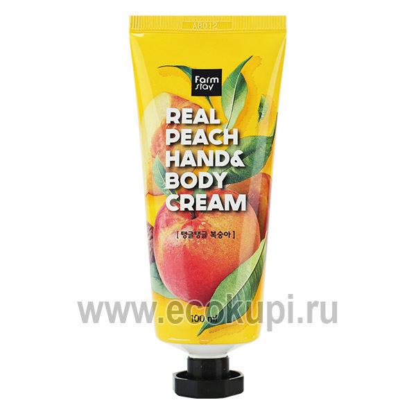 Корейский крем для рук и тела с персиком FarmStay Real Peach Hand & Body Cream купить натуральная косметика для рук изКореидешево со скидкой по распродаже