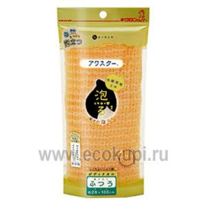 Японская мочалка для тела жесткая Kikulon Awastar Nylon Body Wash Cloth Hard, купить натуральная тайскаякосметика, подробное описание отзывы