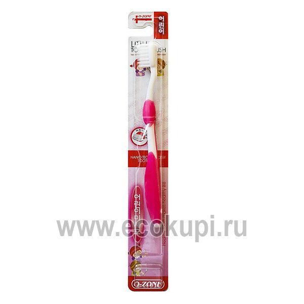 Корейская детская зубная щетка O-Zone Little Slim Toothbrush, купить недорого зубная пастаКореяотзывы клиентов, доставки заказа почтой по России, скидки