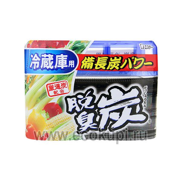 Желеобразный дезодорант с древесным углем для основной камеры холодильника ST CORPORATION, купить поглотители неприятных запахов на кухне Японии иКореи