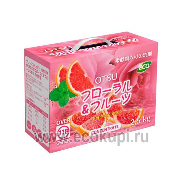купить Концентрированный стиральный порошок с ароматом цитрусовая свежесть OTSU, купить жидкое средство для изделий из шерсти и шелка, купить товары Японии