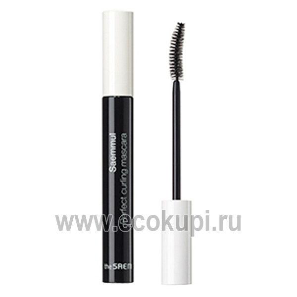 Тушь подкручивающая для ресниц the Saem Saemmul Perfect Curling Mascara, купить недорого профессиональную косметику для макияжа из Кореи с доставкой Россия