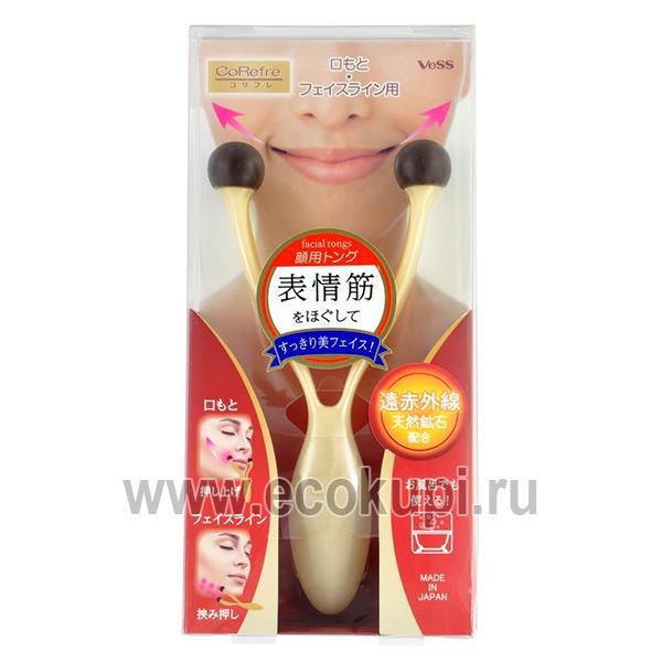 массажер для расслабления лицевых мышц и точечного массажа с древесным углем Vess Face Massager купить антивозрастной массажер для лица