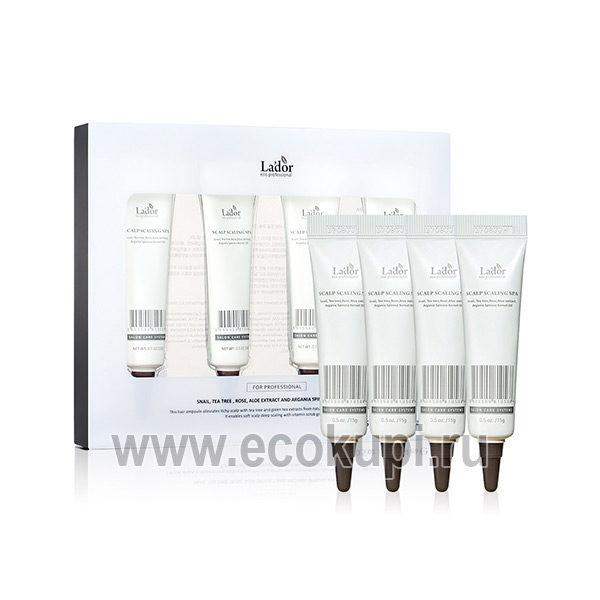 Пилинг для кожи головы Lador Scalp Scaling Spa, профессиональное качество выгодная цена, купить корейское средство для волос, удобные условия доставки в ПВЗ