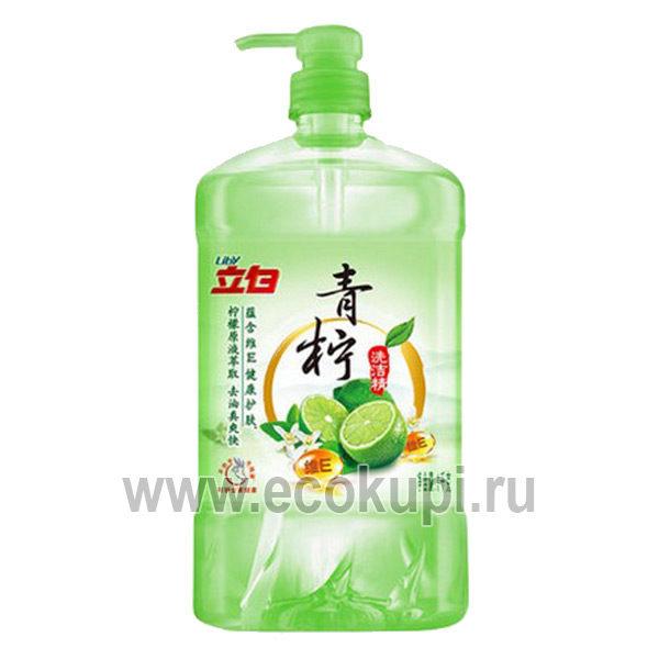 Жидкость для посуды Зеленый лимон LIBY, недорого купить японские товары детям и японская бытовая химия интернет магазин Экокупи товаря Японии Китая Кореи