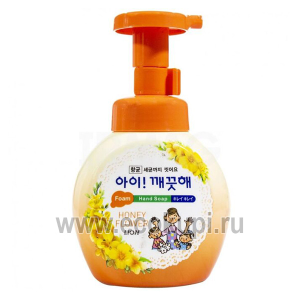 купить Пенное мыло для рук с антибактериальным эффектом Цветочный мёд CJ LION Ai Kekute Soap подробное описание растительный пилинг кожи