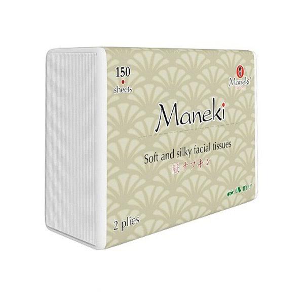 Японские салфетки бумажные двухслойные Maneki Kabi, купить мягкие гладкие салфетки, Экокупи интернет магазин японских товаров в Москве новинки и скидки