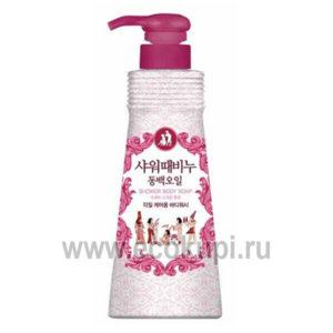 Корейское жидкое мыло для тела ароматерапия - Камелия MUKUNGHWA Shower'n Scrub with Camellia Seed Oil, купить мыло для тела без добавок в магазине Экокупи
