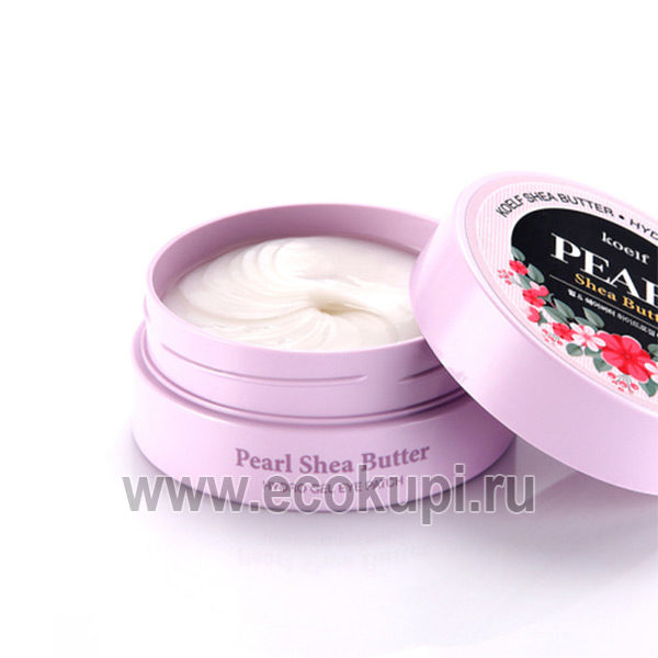 Корейские гидрогелевые патчи для области вокруг глаз с жемчужной пудрой и маслом ши PETITFEE Koelf Pearl Shea Butter Hydro Gel Eye Patch, косметика для глаз