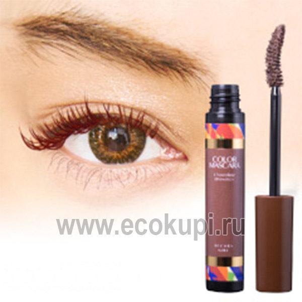 Японская тушь для ресницобъеми удлинение цвет коричневый Decora Girl Color Mascara, купить косметика красота глаз из Кореи Китая Тайланда Японии в Москве
