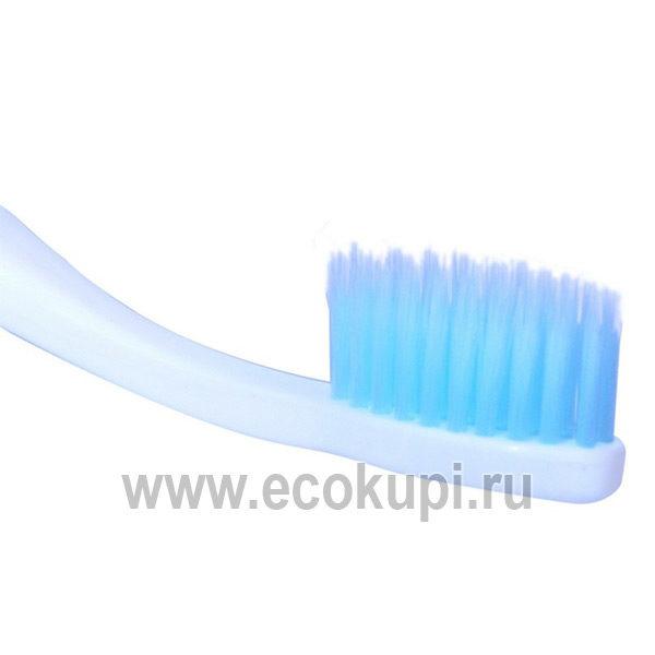 Корейская зубная щетка c изогнутой ручкой и cо сверхтонкой двойной щетиной DENTAL CARE Xylitol Toothbrush, купить зубная паста с экстрактом чая с доставкой