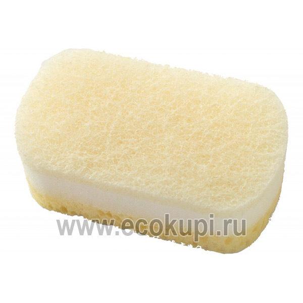 Японская губка для кухни мягкая из полиуретановой пены OH:E Hand Friendly Sponge, интернет магазин хозяйственных товаров для кухни Японии в Москве Экокупи