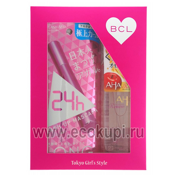 Подарочный набор Пушистые ресницы BCL тушь для ресниц удлинение и подкручивание + увлажняющее масло для снятия макияжа купить набор косметики