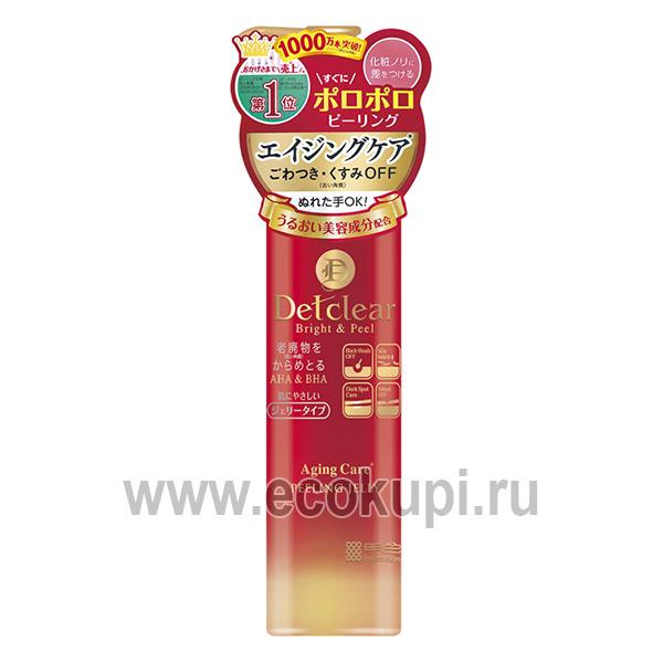 Японский очищающий пилинг-гель с AHA и BHA с эффектом сильного скатывания для зрелой кожи Meishoku Detclear Bright & Peel Peeling Jelly Aging Care купить
