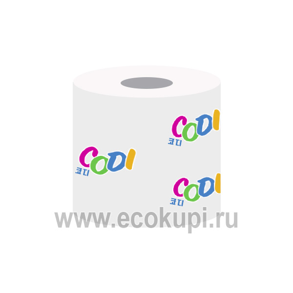 Мягкая туалетная бумага двухслойная с тиснением Codi, купить двухслойную туалетную бумагу, интернет магазин средств личной гигиены Кореи Японии в Москве