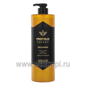 корейский шампунь для восстановления поврежденных волос жизненная сила с прополисом Kerasys Propolis, купить эссенция для укрепления и роста волос по акции