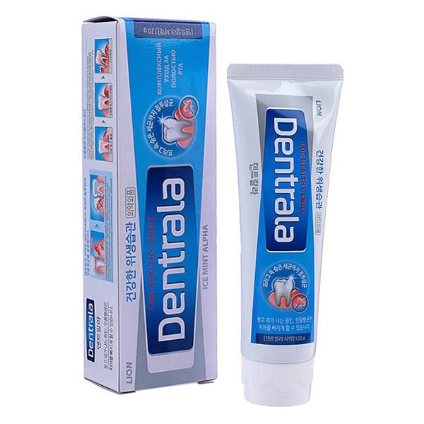 Корейская зубная паста с ароматом мяты CJ LION Dentrala Ice Mint Alpha, купить пасту от зубного камня, подробное описание, отзывы клиентов, система скидок