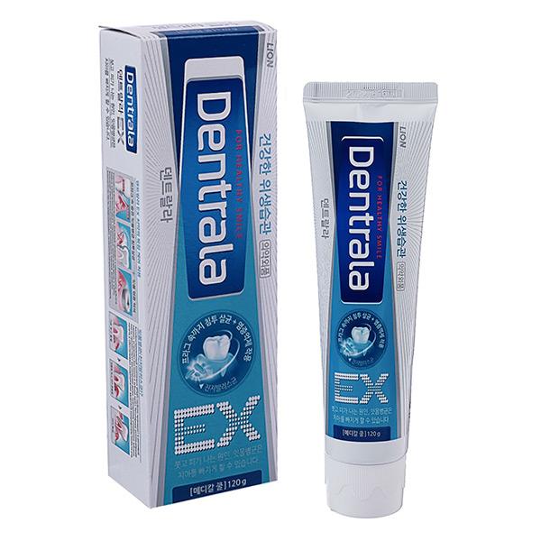 Корейская антибактериальная зубная паста деликатный уход CJ LION Dentrala EX Medical Cool, купить гелевуюзубную пасту магазин качественных средств гигиены
