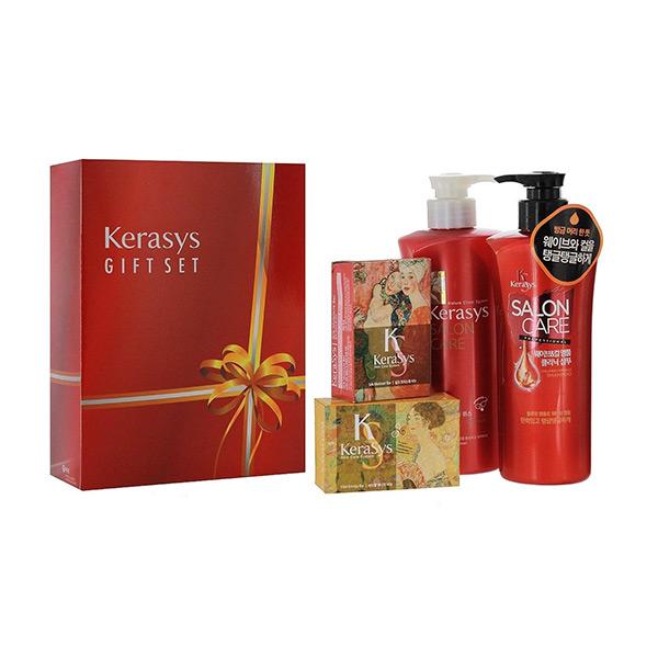 корейский подарочный набор №6 шампунь + кондиционер + косметическое мыло Kerasys Gift Set Salon Care Voluming Ampoule, купить набор косметики для женщин