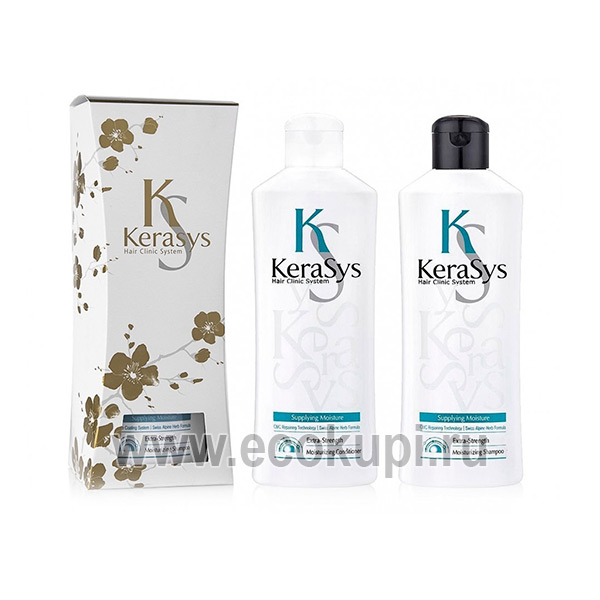 Подарочный набор увлажняющий для сухих и ломких волос шампунь + кондиционер Kerasys Gift Set Moisturizing, купить косметика и уход для волос изКореи Москва