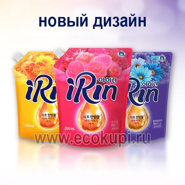 Корейский кондиционер для белья цветочный сад Kerasys Irin Sweet Pink, купить отбеливающий гель для стирки, магазин качественной бытовой химии Кореи Японии