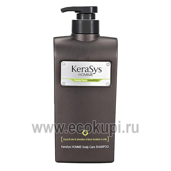 корейский шампунь для мужчин лечение сухой и чувствительной кожи головы Kerasys Homme Scalp Care купить со скидкоймужскую косметику для головы самовывоз