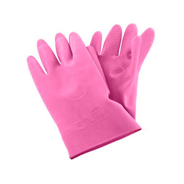 Корейские перчатки из натурального латекса с внутренним покрытием укороченные розовые Inaus хозяйственные перчатки перчатки для уборки нескользящие перчатки