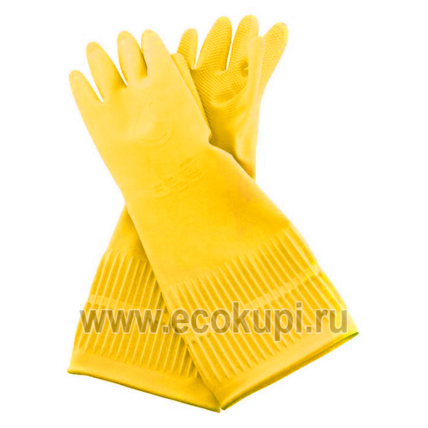 Корейские перчатки из натурального латекса для работы с продуктами бежевые Inaus, купить средство уборки для дома, подробное описание отзывы клиентов акции