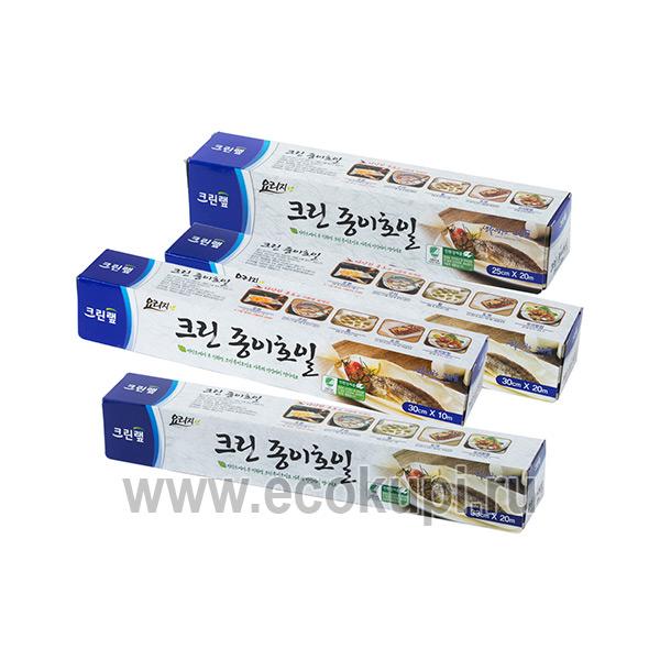 Корейская бумага для выпечки и готовки пищи без масла в рулоне Inaus, купить пергаментную бумагу на кухню, гибкая система разовых и накопительных скидок